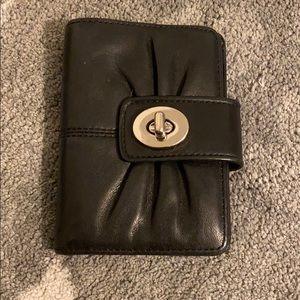 Coach black wallet simple